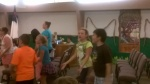 Doing things for others like Vacation Bible School. The kids learn and have fun.